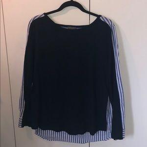 Vince Camuto Long Sleeve Split Shirt